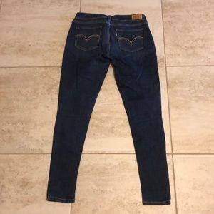 Levi's skinny dark wash high rise jeans Sz 31